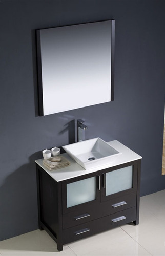 "Vaughn 36"" Bathroom Vanity Espresso"