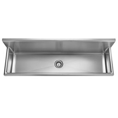 Kindred Wts72 1 Single Bowl Wall Mount Trough Sink No Hole 3 12