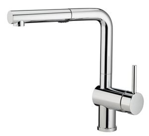 Blanco 403827 Posh Single Hole Pullout Spray Kitchen Faucet SOP1619 in Classic Steel