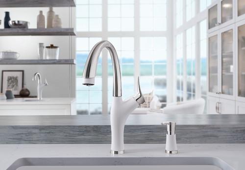 Blanco 442028 Artona Silgranit kitchen faucet in stainless white finish