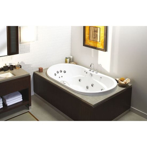 Maax Bath  Living 6042 Acrylic Centre Drain Oval Bathtub, 42 - 71 gal, White