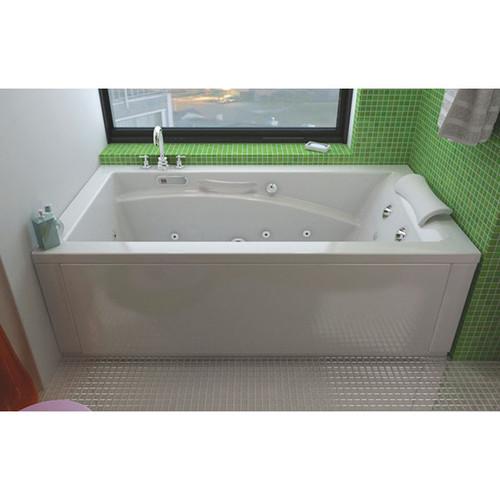 Maax Bath Optik 6032 Acrylic End Drain Alcove Rectangular Bathtub, White