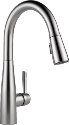 DELTA 9113-AR-DST ESSA SINGLE HANDLE PULL-DOWN KITCHEN FAUCET WITH MAGNATITE DOCKING AND TOUCH-CLEAN SPRAY HEAD - ARCTIC STAINLESS