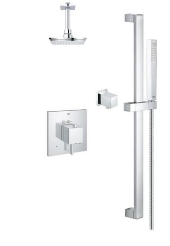 Grohe Starlight Eurocube Shower Set Square 118050
