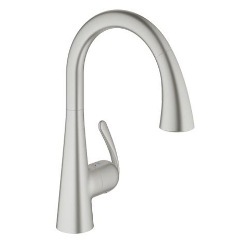 Grohe Ladylux Single-Handle Kitchen Faucet SuperSteel Finish