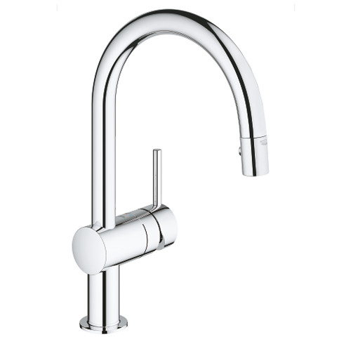 Grohe Minta Single Handle Kitchen Faucet Dual Spray Pull Down Chrome