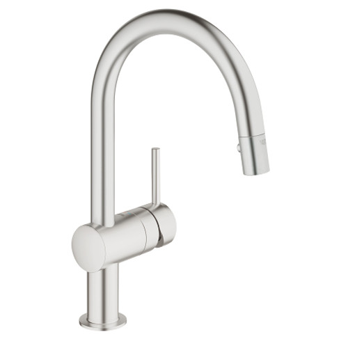 Grohe Minta Single-Handle Kitchen Faucet Dual Spray Pull-Down SuperSteel