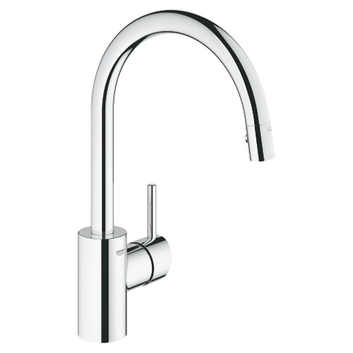 Grohe Concetto Single-Handle Kitchen Faucet Dual Spray Pull-Down Chrome