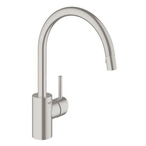 Grohe Concetto Single-Handle Kitchen Faucet Dual Spray Pull-Down SuperSteel