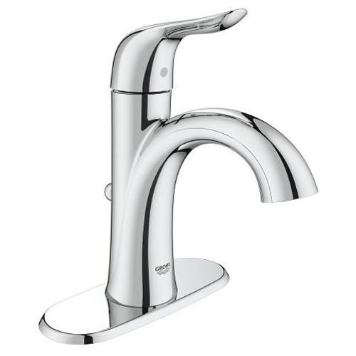 "Grohe Agira 4"" Centerset Bathroom Faucet XL-Size Lavatory Centreset With Escutcheon Chrome Finish"