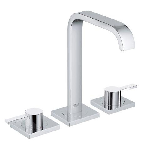 "Grohe Allure Lavatory Wideset 8"" Widespread Two-Handle Bathroom Faucet M-Size Chrome Finish"