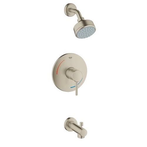 Grohe Concetto Shower And Tub Complete Brushed Nickel Finish