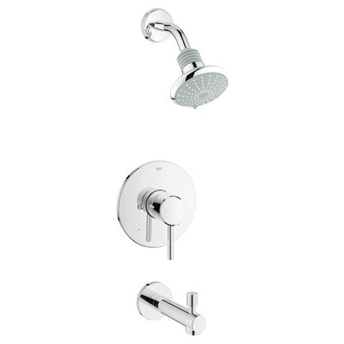 Grohe Concetto Pressure Balance Valve Shower And Tub Complete Faucet Chrome Finish