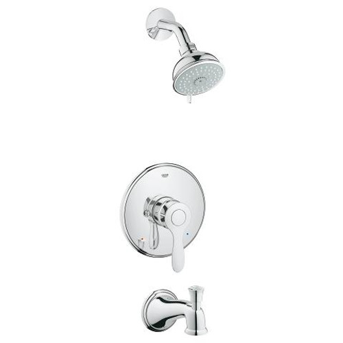 Grohe Parkfield Pressure Balance Valve Shower And Tub Complete Faucet Chrome Finish
