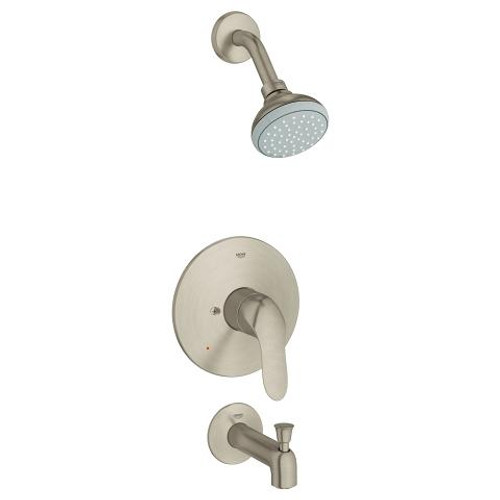 Grohe Agira Shower And Tub Complete Brushed Nickel Finish