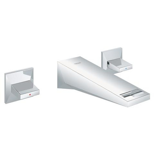 """Grohe Allure Brilliant Wall Mount 8"""" Widespread Two-Handle Bathroom Faucet S-Size Chrome Finish"""
