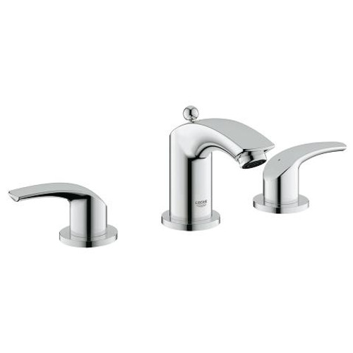 """Grohe Eurosmart 8"""" Widespread Two-Handle Bathroom Faucet S-Size Chrome Finish"""