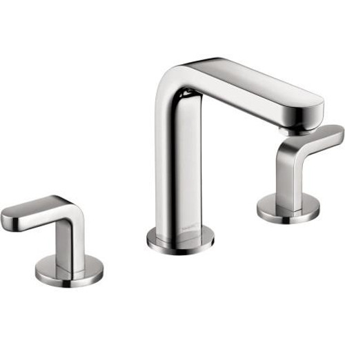 Hansgrohe Metris S Widespread Faucet with Lever Handles Chrome Finish