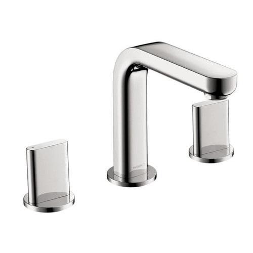 Hansgrohe Metris S Widespread Faucet with Full Handles Chrome Finish