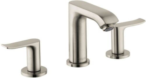 Hansgrohe Metris 100 Widespread Faucet Brushed Nickel Finish