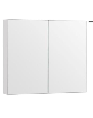 """32"""" Medicine Cabinet Mirror White/ Espresso"""
