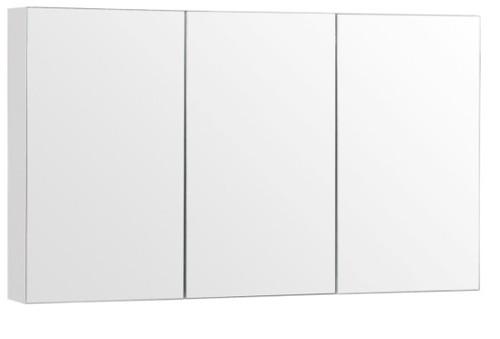 """48"""" Medicine Cabinet Mirror White/Espresso"""