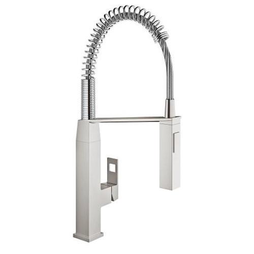 Grohe Eurocube Single-Handle Kitchen Faucet SuperSteel Finish
