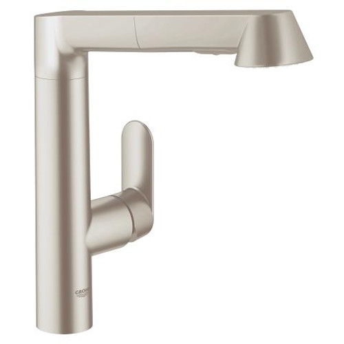 Grohe K7 Single-Handle Kitchen Spray Pull-Out Faucet SuperSteel Finish