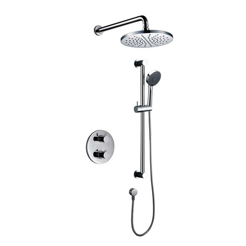 Royal Panama Twin Thermostatic Shower System Chrome