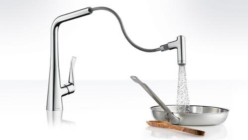 Hansgrohe Metris 2 Spray Higharc Kitchen Faucet Pull Out York Taps