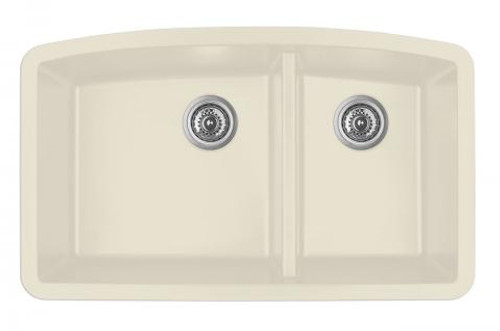 "Karran Double Bowl Undermount Kitchen Sink Bisque Finish 32-1/2"" x 19-1/2"""