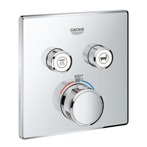 Grohe Grohtherm SmartControl Dual Function Thermostatic Trim with Control Module Chrome Finish