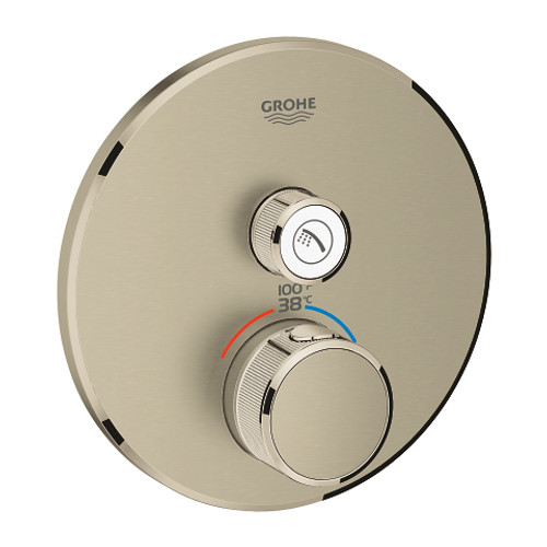Grohe Grohtherm SmartControl Single Function Thermostatic Trim with Control Module Brushed Nickel Finish