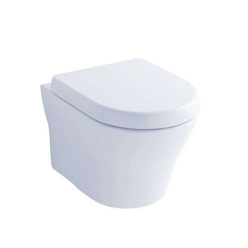 TOTO CT437FG MH Wall Hung Dual Flush Toilet Cotton Complete with 2 x 6 Carrier