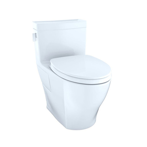 TOTO MS624124CEFG Legato One Piece Elongated Toilet Cotton White