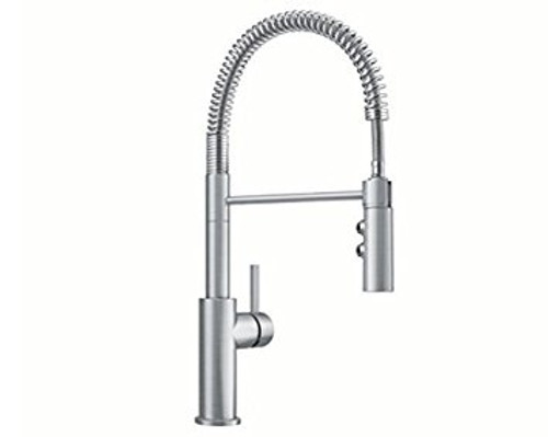 Blanco Catris Pull Down Spray Kitchen Faucet in Stainless Finish