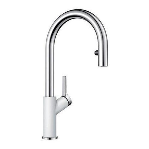 BLANCO URBENA Kitchen Faucet in Chrome / White