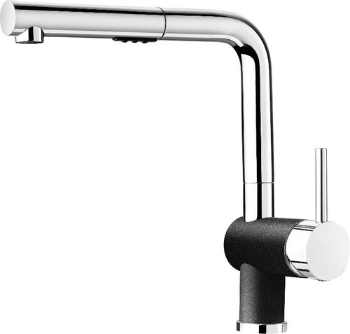 Blanco 403830 Posh Single Hole Pullout Spray Kitchen Faucet in Chrome / Anthracite