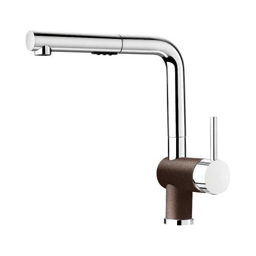 Blanco 403831 Posh Single Hole Pullout Spray Kitchen Faucet in Chrome / Café