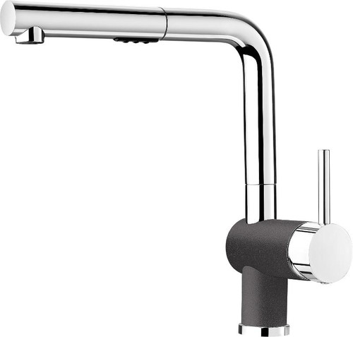 Blanco 403832 Posh Single Hole Pullout Spray Kitchen Faucet in Chrome / Cinder