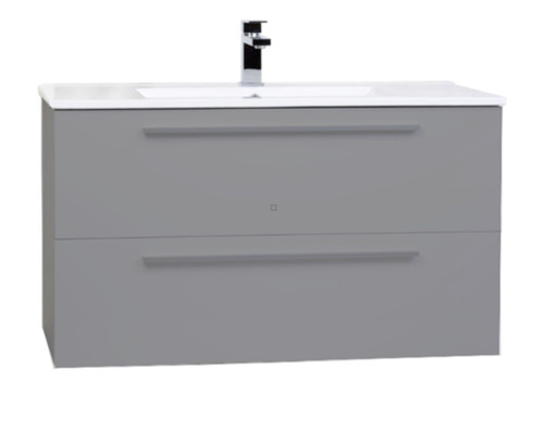 "Zoom 30"" Wall Mount Bathroom Vanity Grey"
