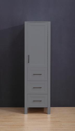 """Armada Side Column Linen Tower Grey 78"""" H x 18.5 x 22"""" D"""