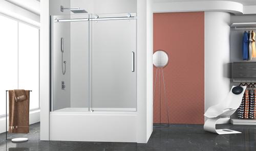 "Zitta Bellini 60"" x 63""H Bathtub 1 Door, 1 Fixed"