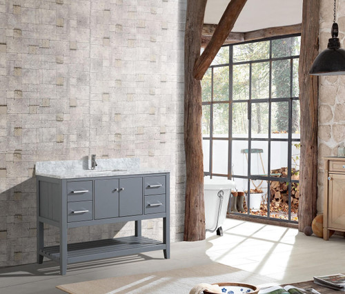 "Hampton 48"" Bathroom Vanity Grey"