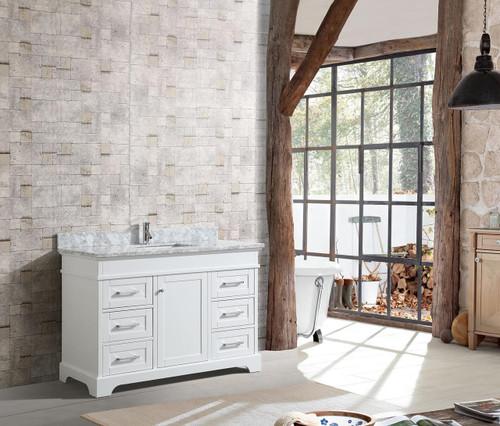 """Bayview 46"""" Bathroom Vanity White"""