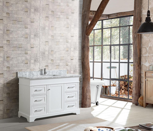 "Bayview 52"" Bathroom Vanity White"