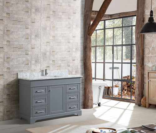 "Bayview 52"" Bathroom Vanity Grey"