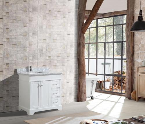 """Bayview 36"""" Bathroom Vanity White"""