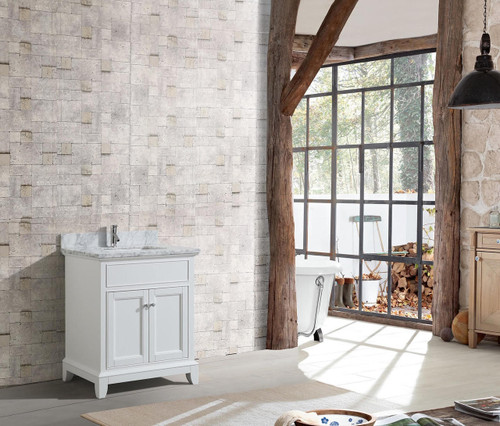 "Bayview 30"" White Bathroom Vanity"