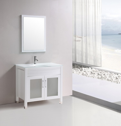 "Marbaya 32"" Bathroom Vanity White Without Top"